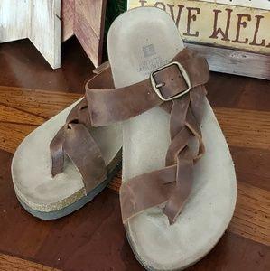 Leather Braided Gladiator Sandals